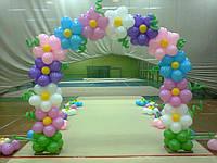 Оформление воздушными шарами зала художественной гимнастики