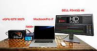 Аренда ThunderWolf внешней видеокарты eGPU для Macbook Pro, iMac, Macmini c Thunderbolt