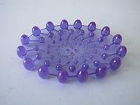 Мыльница силиконовая фиолетовая прозразная