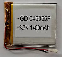 Литиевый элемент питания 045055 3,7V (фактический размер 04x47x56mm (044756)) 1400mAh