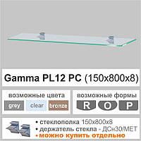 Полка из стекла Commus  PL12 PC