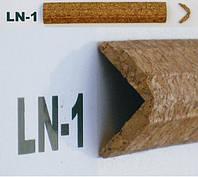 Профиль угловой пробковый, внешний LN1 2см * 2см