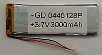 Литиевый элемент питания 0445128 3,7V (фактический размер 4.4x40x122mm (4440122)) 3000mAh