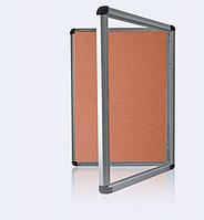 Доска-витрина пробковая, 60х90