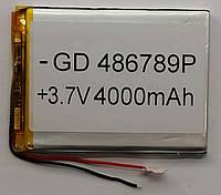 Литиевый элемент питания 486789 3,7V (фактический размер 4.8x66x89mm (486689)) 4000mAh