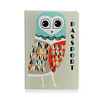 Обложка для паспорта «Стильная сова», фото 1