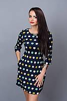 Модное платье с боковыми карманами в швах