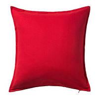 "IKEA ""ГУРЛИ"" Чехол на подушку, красный, 50x50 см"