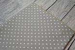Лоскут ткани №6  серого цвета с белым горошком, фото 2