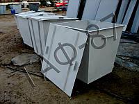 Бак ТБО 0,75 м.куб. металл 2,0 мм + крышка