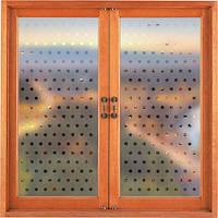 Интерьерная наклейка на окно В горошек