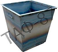 Бак ТБО 0,75 м.куб. металл 1,2 мм + крышка, фото 1