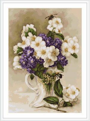 "Набор для вышивания нитками  ""Ваза с цветами"", фото 2"