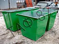 Бак ТБО 0,75 м.куб. металл 1,5 мм+крышка, фото 1