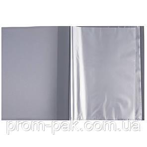 Папка пластиковая c 100 файлами А4 (в чехле), синий, фото 2