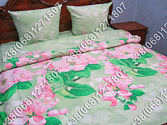 Постельное белье поплин - полуторный комплект (0589)
