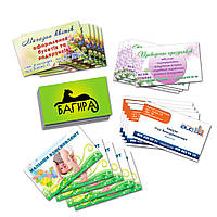 Визитки на заказ, изготовление визиток разной плотности