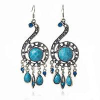 Серьги индийские blue