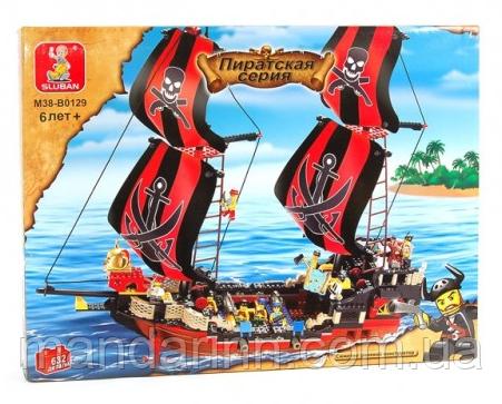 Конструктор дитячий SLUBAN 619934/M38B0129 -Піратська серія, корабель