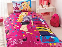 Розовый комплект постельного белья для маленькой модницы TAC BARBIE FACE Of FASHION SV19