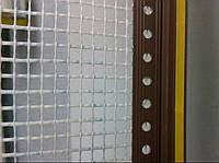 Профиль оконный примыкающий, 6мм, с сеткой,  2.5м  (коричневый) c манжеткой