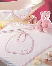 Набор полотенце с капюшоном, полотенца (2шт.), рукавичка, слюнявчикPRINCESS
