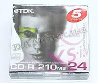 Диск CD-R mini TDK 80mm 210MB 24x slim case/5+