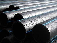 Труба полиэтиленовая д.32 водопроводная питьевая 10 атм. черная с синей полосой