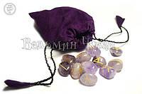 Руны из камня (аметист, сердолик, оникс, горный хрусталь, черный агат, розовый кварц, авантюрин)
