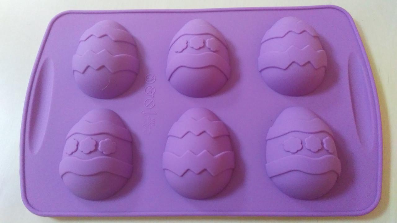 """Форма силиконовая """"Яйца пасхальные """" 6 шт Галетте - 04777"""