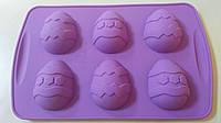"""Форма силиконовая """"Яйца пасхальные """" 6 шт (код 04777)"""