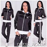Стильный спортивный женский костюм-двойка ADIDAS: толстовка и брюки