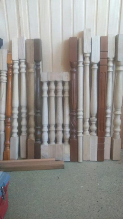 Балясины деревянные, для ограждения. Модельный ряд