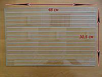 Стекло каленое 48 х 30,5 см, термостойкое стекло духовки