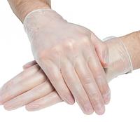 Перчатки виниловые опудренные