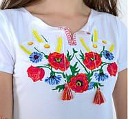 Женская вышиванка  Радуга цвет белый до 56 размера, фото 2