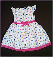 Платье хлопковое Zara Basic на 2 и 3 года