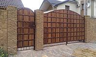 Кованные ворота (всередине дерево) 2650 , фото 1
