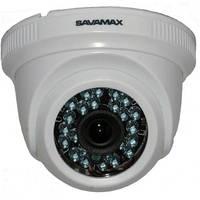 Видеокамера купольная SAV 35P с ИК подсветкой на 2 МП формата AHD