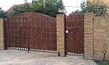 Кованые ворота (всередине дерево) 265, фото 4