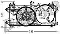 Вентилятор радiатора Fiat Doblo 1,3 Multijet - 1,9 Multijet (2005-2016) без кондицiонеру