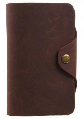 Темно-коричневое мужское портмоне  ручной работы TIDING BAG  8033R-1