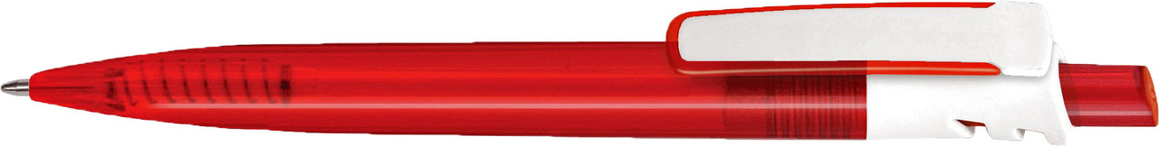 Ручка пластиковая VIVA PENS Grand Mix прозрачно-красная