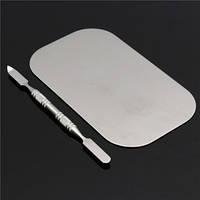 Палитра для смешивания текстур + шпатель (сталь)