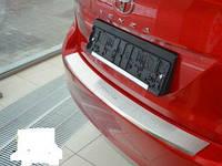 Накладка на задний бампер на Тойота Венза с 2013> (нерж.) с загибом NataNico.
