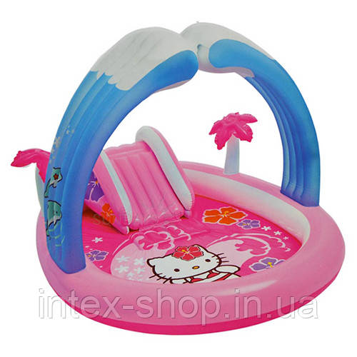"""Детский надувной игровой центр с душем """"Hello Kitty"""" Intex 57137"""