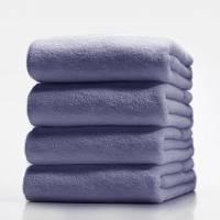 Махровые полотенца без бордюра 50х100; плотность: 450 г/м² сиреневый
