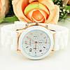 Женские наручные силиконовые часы Geneva white, фото 7