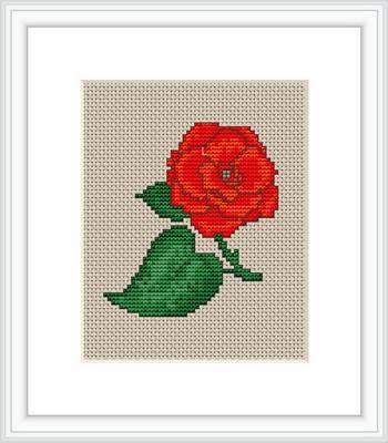 "Набор для вышивания нитками  ""Роза"", фото 2"