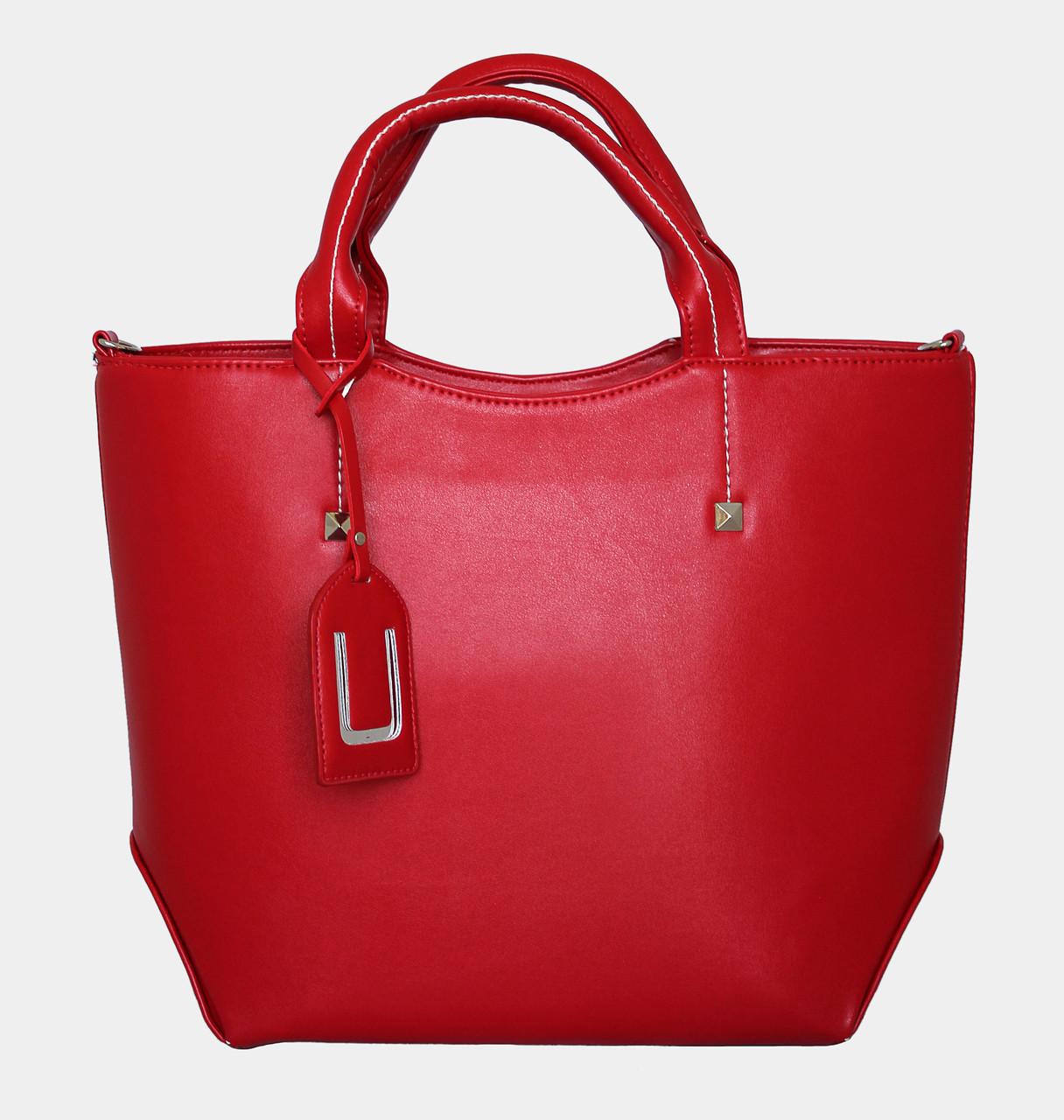 красная большая женская сумка